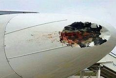 جزئیات  کامل برخورد خودرو با هواپیما در فرودگاه اهواز