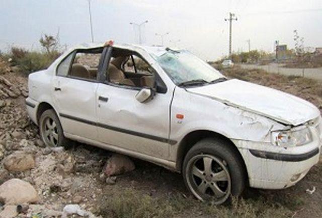 5 مصدوم در حادثه واژگونی سمند  در محور شهرکرد به شلمزار
