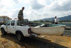 جمع آوری دام های ماهیگیری در استخر فجر لنگرود