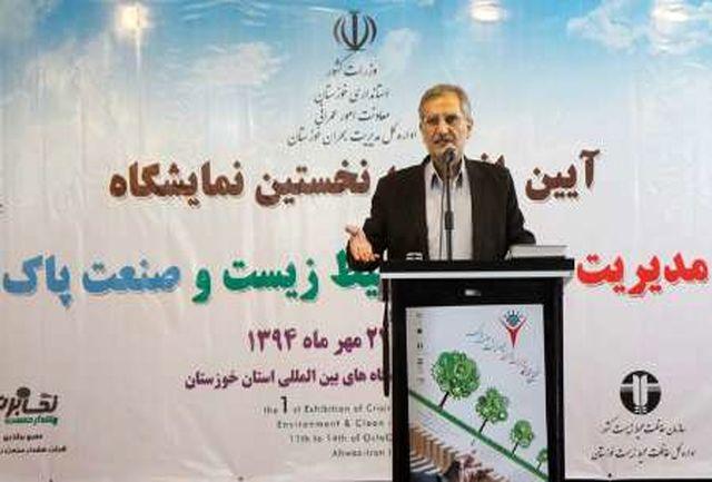 کانونهای ریزگرد خوزستان 600 هزار هکتار است