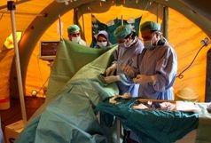 استقرار بیمارستان صحرایی استان مرکزی در مرز مهران