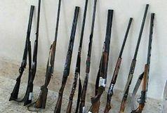 کشف و ضبط 11قبضه اسلحه شکاری از شکارچیان درشهرستان فومن
