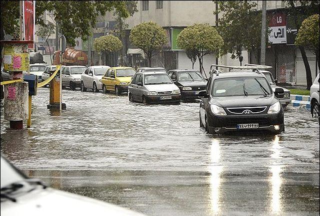 هشدار آبگرفتگی معابر به علت بارندگی شدید