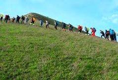 صعود کوهنوردان آستارا به ارتفاعات کوه های تالش