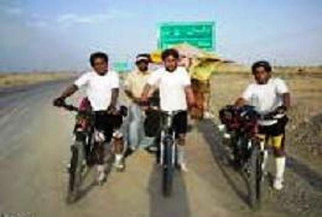 دوچرخهسواران گردشگر رایحه کرامت به مشهد مقدس رسیدند