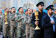 آیین خطبه خوانی خادمان با حضور جمعی از نیروهای مسلح برگزار شد