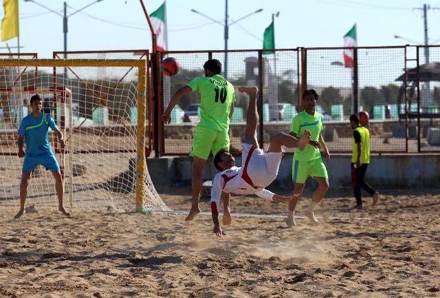 تمرین نوبت صبح تیم ملی فوتبال ساحلی برگزار شد