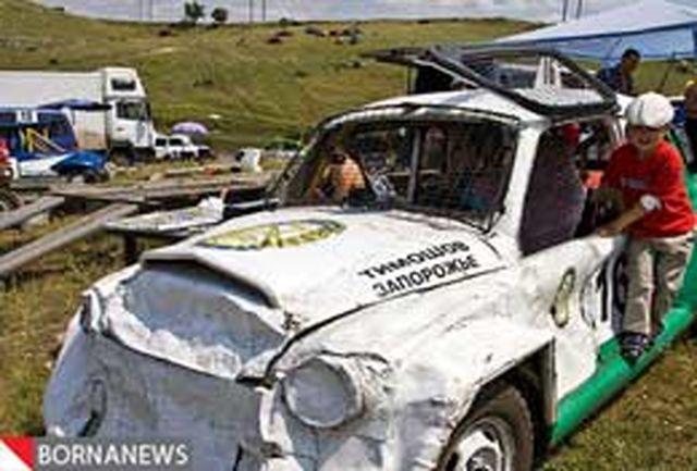 مسابقات مرگبار اتومبیلرانی در اوکراین+عکس