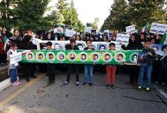 تجمع اعتراضی اهالی روستاهای غرب رامسر در ایستگاه سوم