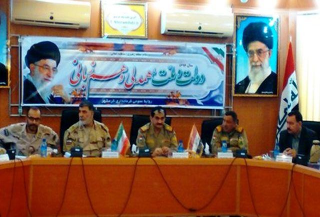 دیدار فرماندهان مرزبانی عراق با مسئولان ایرانی