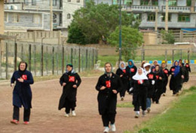 درخشش اصفهان در مسابقات کشوری پیاده روی بانوان