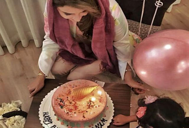 تولد ٤٠ سالگى بازیگر زن مشهور/ببینید