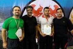 وزنه برداران کردستانی دو نشان رنگارنگ را در رقابت های پیشکسوتان کشور کسب کردند