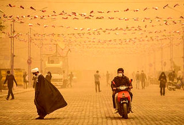 نوسان میزان گرد و خاک هوای آبادان تا ۱۷ برابر حد مجاز