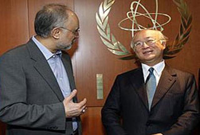 بیانیه آژانس اتمی پس از دیدار آمانو با صالحی