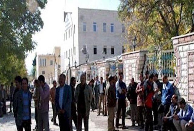 تجمع اعتراض آمیز 200 نفر از کارکنان حمل ونقل استان