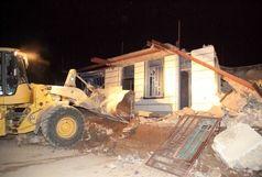 تخریب ساخت و سازغیرمجاز در اراضی ملی خرم آباد