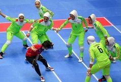 صعود تیم لیگ برتری کبدی بانوان استان به نیمه نهائی