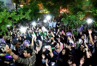 شادی مردم پس از انتخابات در بجنورد