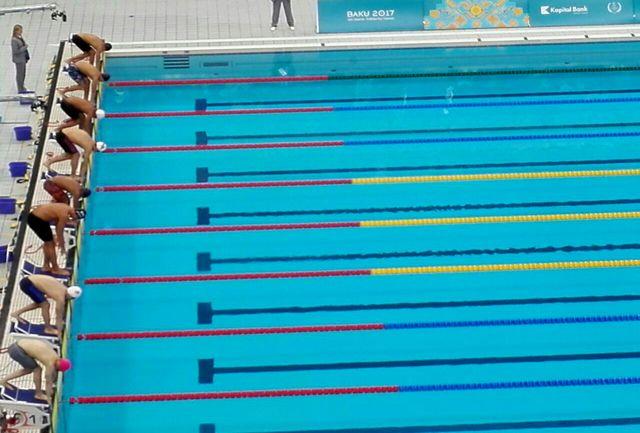 تیم شنای 4 در صد متر ایران صاحب مدال برنز شد