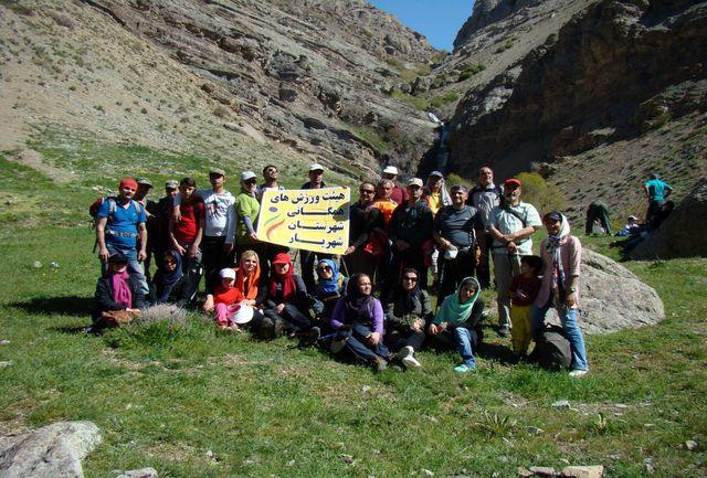 کوهپیمایی خانوادگی آبشار زیبای کلوگان فشم توسط هیئت همگانی شهریار