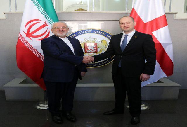 ظریف با همتای خود در گرجستان دیدار کرد