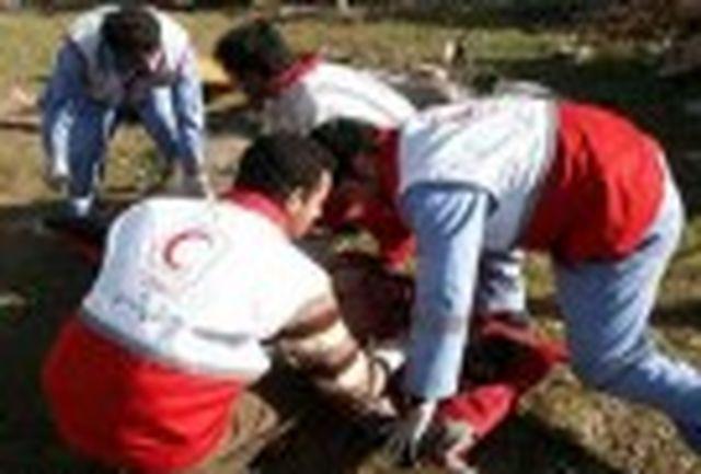 برخورد زنجیرهای ۶۰ دستگاه خودروی سواری در شهرستان آبیک