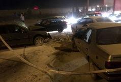 تصادف زنجیره وار در محور ملی گردشگری هفت باغ علوی