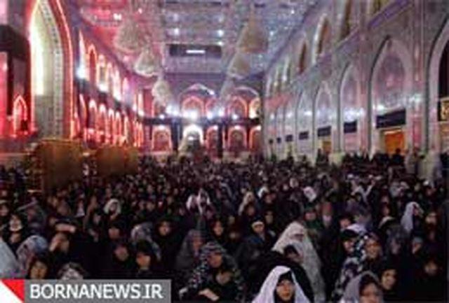 عزاداری در حرم حضرت امام حسین (ع) در نخستین روز ماه صفر