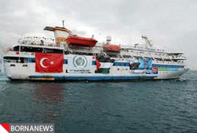 کشتی مرمره وارد استانبول شد