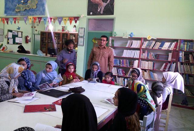 برگزاری جمع خوانی و مسابقه نقاشی کتاب دوست مهربان کبوترها