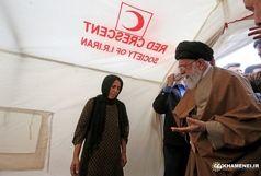 حضور رهبر انقلاب در روستای کوئیک کرمانشاه