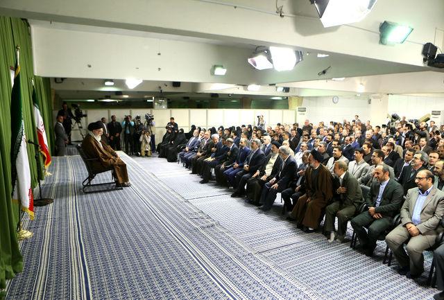 دیدار مدیران سازمان صداوسیمای جمهوری اسلامی با رهبر انقلاب