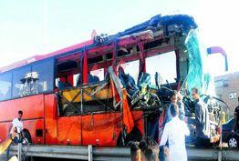 8 مجروح بر اثر انحراف اتوبوس از جاده