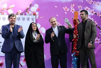 مراسم آیین بازگشایی اولین مدرسه ورزشی ایران و نواختن زنگ مدرسه با حضور وزیر ورزش و جوانان