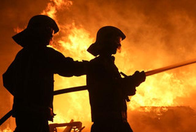 آتش سوزی جنوب قزوین تلفات جانی نداشته است