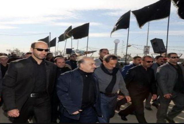 حضور جهانگیری و سلطانیفر در راهپیمایی پرشور اربعین