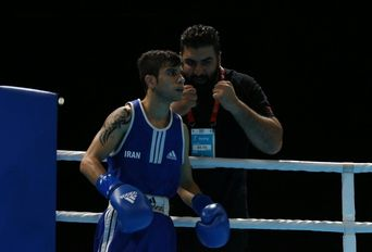 رقابت احمدی صفا بوکسور کشورمان با رقبا در بازیهای اسلامی