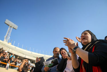 3 عکس های حضور مردم و ورزشکاران و فوتبالی ها در مراسم تشییع هادی نوروزی