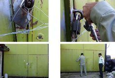 پلمپ یک واحد بازیافت پلاستیک غیر مجاز در شهرستان رضوانشهر