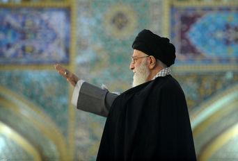 حضور رهبر انقلاب در حرم مطهر رضوی علیهالسلام