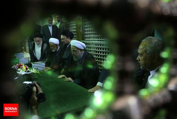 درددل روحانی با آیت الله هاشمی رفسنجانی/ ببینید