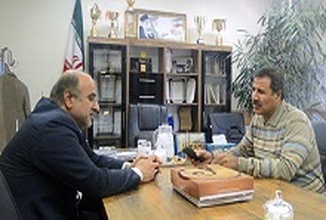 حضور معاونت اداری و مالی فرماندار شهرستان شهریار در اداره ورزش و جوانان