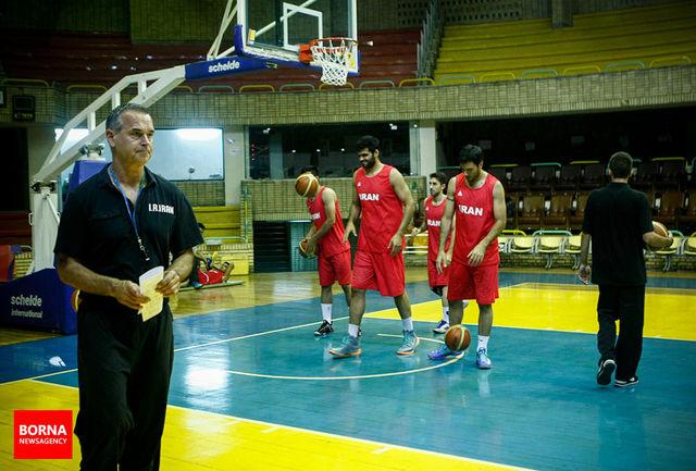 ملیپوشان بسکتبال آخرین تمرین خود را انجام دادند